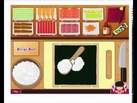 เกมส์ทำอาหารซุชิญี่ปุ่น ทำ Sushi Salmon