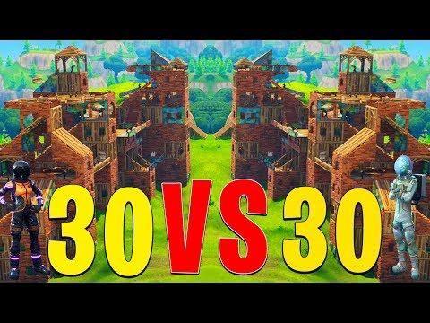 30 VS 30 EN SERVEUR PRIVE SUR FORTNITE BATTLE ROYALE !!!