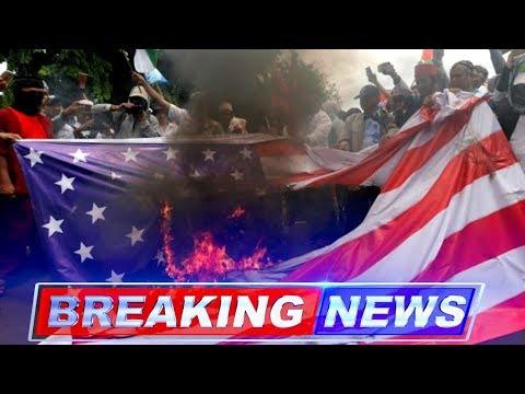 USA and Israeli Flags Burned by Hardline Indonesian Muslim groups over Trump's Jerusalem Decision