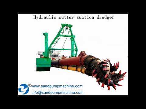 Hydraulic cutter suction dredger for channel cleanout