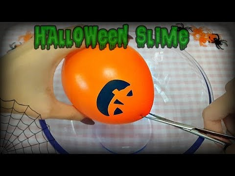 Halloween SLIME Scoppiando i palloncini (popping balloon slime)