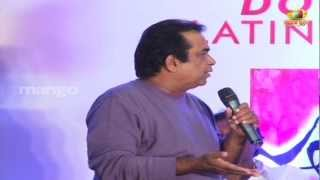 Brahmanandam joking on Trivikram Srinivas - Julayi Double Platinum Disc Function