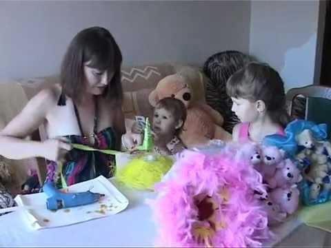 Как сделать букет из игрушек.mp4
