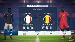 FRANCE vs BELGIUM FIFA 18 World Cup Russia PS4 Slim HD