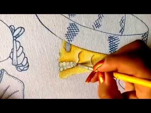 Pintura en tela pareja de calaveritas uno con cony youtube - Pinturas para halloween ...
