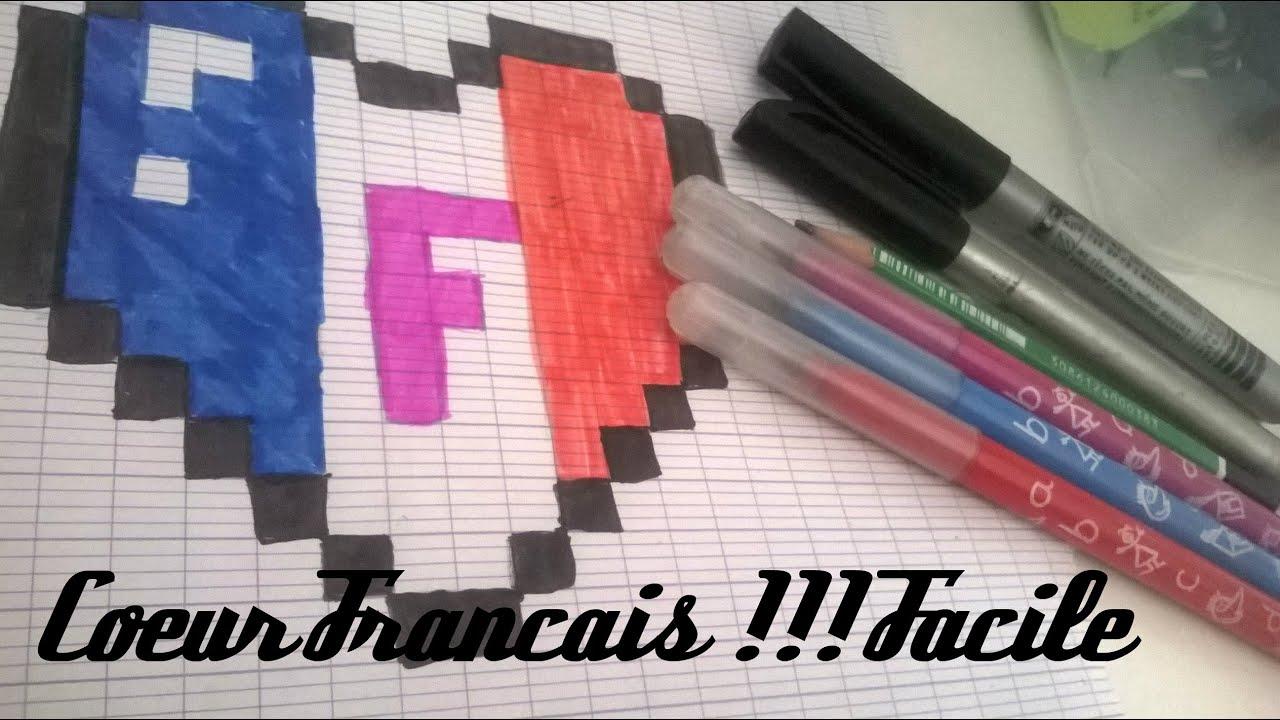 Pixel Art Coeur Francais Youtube