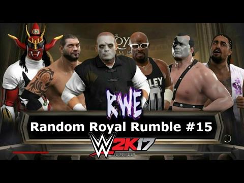 WWE 2K17   Random Royal Rumble #15 - WWF NXT WCW ECW TNA ROH CZW PWG BJW NJPW Lucha Underground