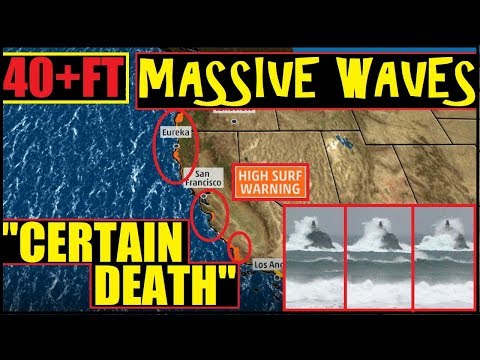 """*BREAKING* CALIFORNIA """"Threat to Life & Property"""" 40 foot waves & Hurricane Force WINDS!"""