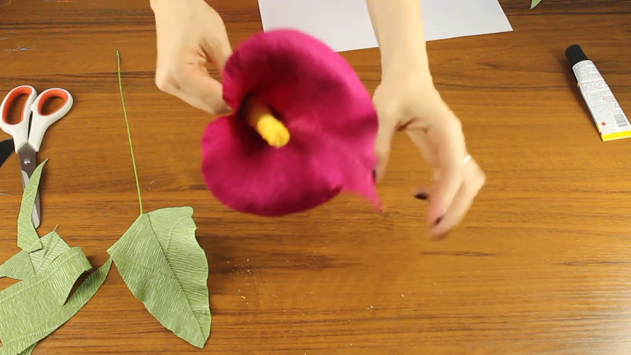 How to Make a Paper Calla Lily - Watercolor Paper Flowers | 720x1280