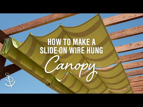 How to Make a Slide-On Wire Hung Canopy