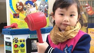 뿅망치 두더지 잡기 게임 해보다! ❤︎ 라임이의 장난감 놀이 LimeTube & Toy 라임튜브