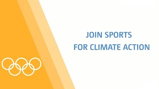 Athletes support the Sports for Climate Action Initiative