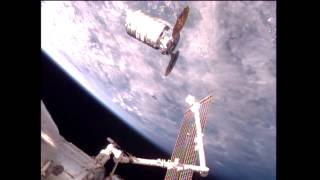 U.S. Commercial Cargo Ship Arrives at the International Space Station