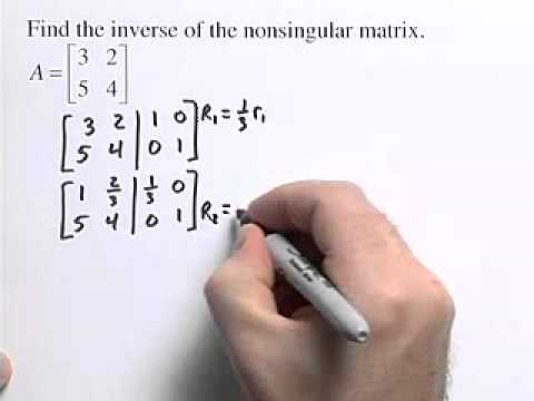 How to Find the Inverse of a Non Singular Matrix - YouTube