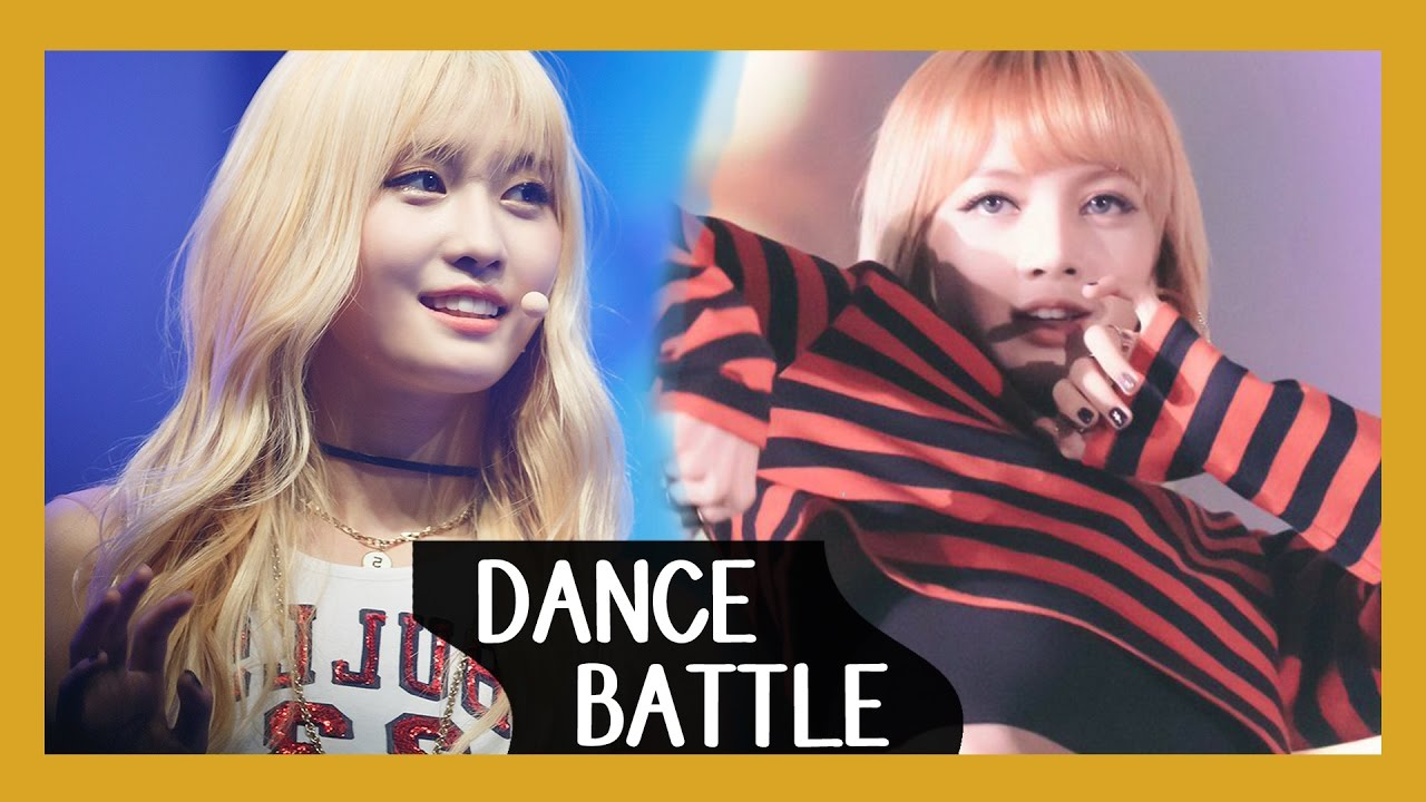 [DANCE BATTLE] Lisa (BlackPink) VS. Momo (Twice) - YouTube
