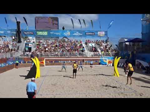 Beach Volleyball Men's Semifinal 1: USA Vs Brazil
