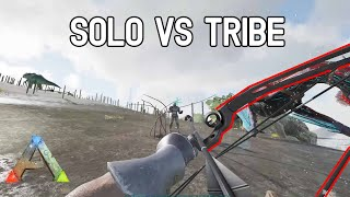 Fighting a tribe SOLO (1 v 5) - ARK Small Tribes