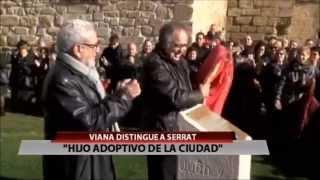 Joan Manuel Serrat hijo adoptivo de Viana 28 12 2014