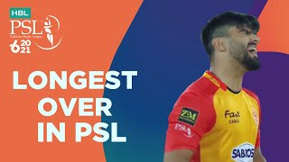 Longest Over In PSL | Karachi Kings vs Islamabad United | Match 6 | HBL PSL 6 | MG2T
