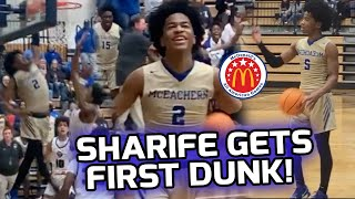 Sharife Cooper Gets His FIRST IN GAME DUNK! McDonald's All-American Drops 34 POINTS In Big Win🔥