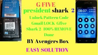 GFIVE president shark 2 pattern lock gmail lock REMOVE 100%DON BY AVENGER BOX