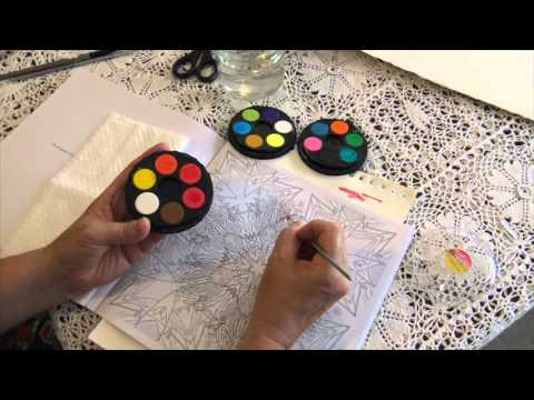 How to Use Watercolour (watercolour) Paints in Colouring (coloring ...