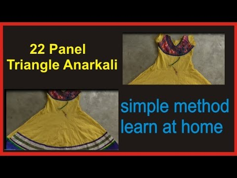 How to Make Triangle Anarkali 22 Panel/Drafting and Pattern part 3 of 4