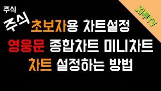 [주식] 차트설정 l 영웅문 키움종합차트 키움미니차트 …