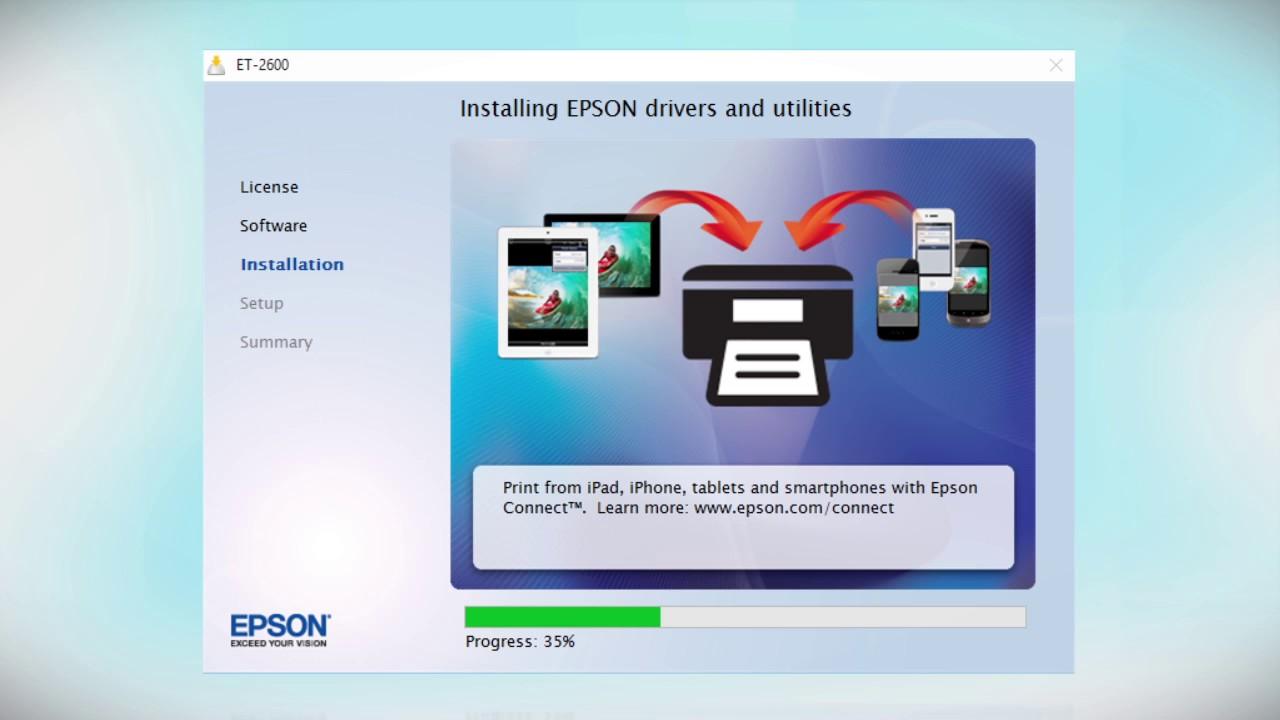 Epson Expression Et 2500 Amp Et 2600 Wireless Setup Using
