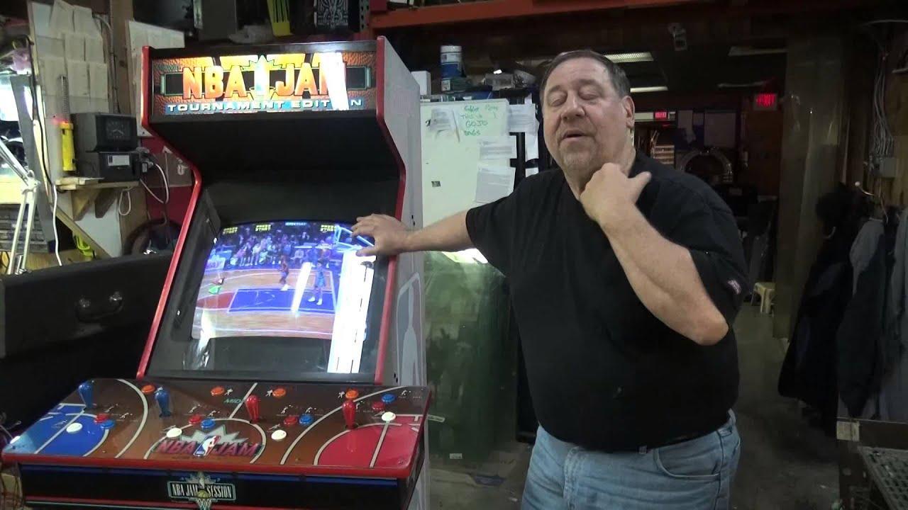 660 Bally Midway NBA JAM TOURNAMENT Arcade Game with Custom Cut ...