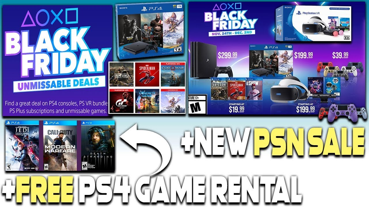 Ps4 Black Friday Deals Revealed New Psn Sale Free Ps4 Game Rental Youtube
