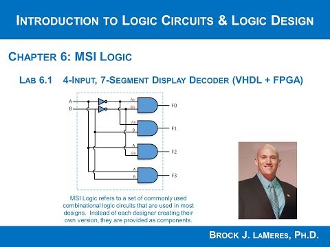 Lab 6.1  - 4-Input, 7-Segment Display Decoder (VHDL + FPGA)