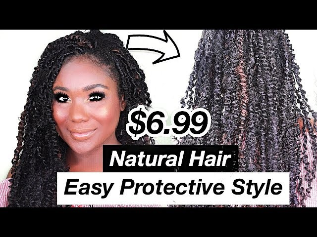 EASY Natural Hairstyles - Passion Twists Tutorial I Crochet 4c Hair Protective Style I Rose Kimberly