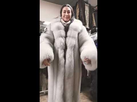 Duke And Duchess Furs Blue Fox Women's Coat