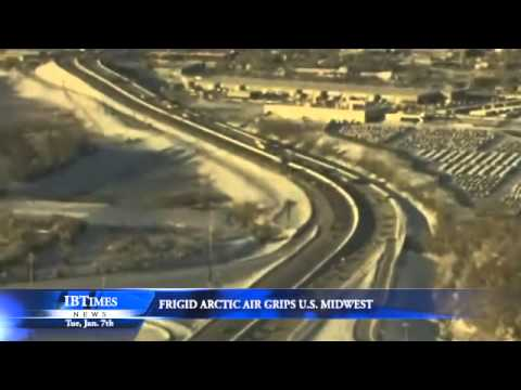 Frigid Artic Air Grips U.S. Midwest