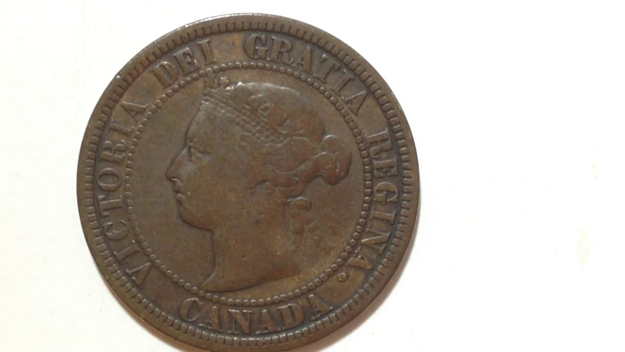 1882 One Cent Victoria Coin Canada Youtube