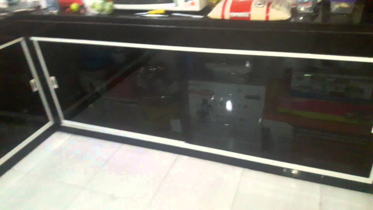 Armario de pia vidro fume 8mm kit branco   #954E36 1920 1080