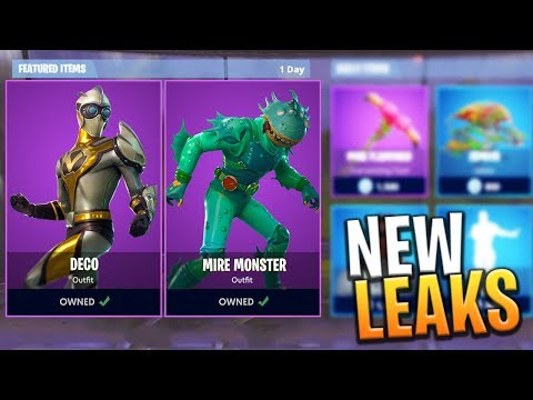 *NEW* SKINS, PICKAXES AND FREE BACK BLING LEAKS! - Fortnite: Battle Royale