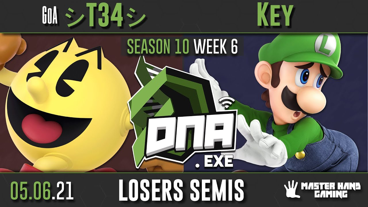DNA.EXE S10:W6 - GoA | シT34シ (Pac Man) Vs. Key (Luigi) - L Semifinals