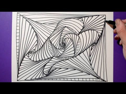 Easy Abstract Drawing Satisfying And Relaxing Doodle