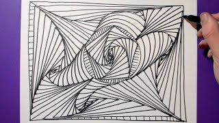 abstract easy drawing relaxing drawings doodle pattern satisfying paintingvalley