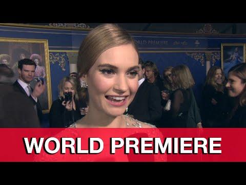Lily James Cinderella World Premiere Interview