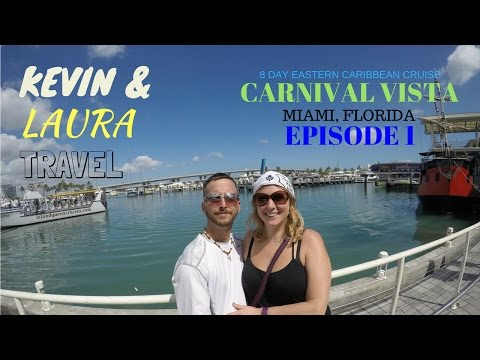 Carnival Vista 2017 Caribbean Cruise DAY IN MIAMI, Grand Turk San Juan St. Kitts St. Maarten, GO PRO