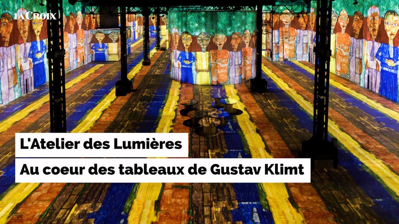 plong e dans l 39 uvre du peintre gustav klimt youtube. Black Bedroom Furniture Sets. Home Design Ideas