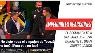 ¡ASÍ REACCIONARON! Imperdible seguimiento a #Gallardo y #Russo en el #Superclásico