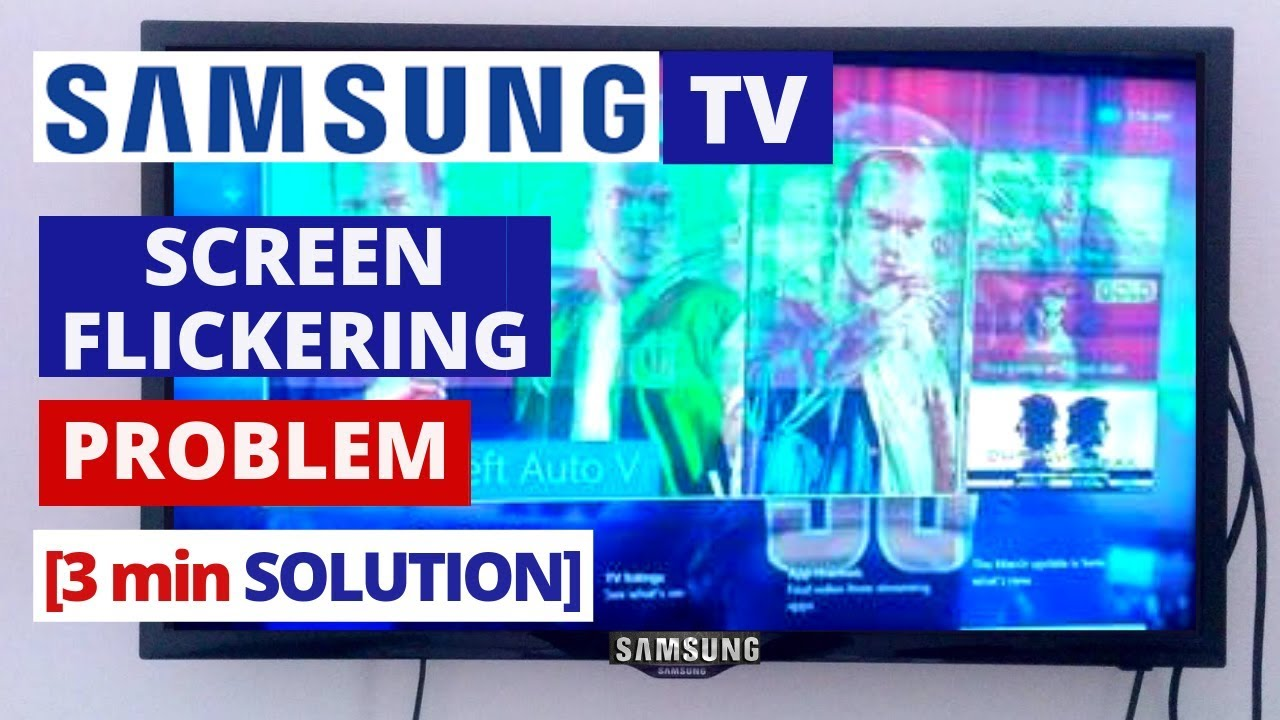 How to Fix Samsung TV Screen Flickering Problem || Quick Solve in 3 min