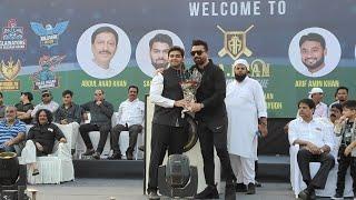 Ajaz Khan pohchai A.A. Khan Champions League Cricket Match Opening Ceremony at BMC Ground