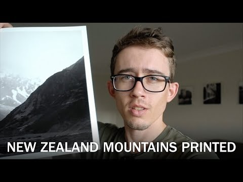 Printing New Zealand Mountains In B&W | Landscape Photography