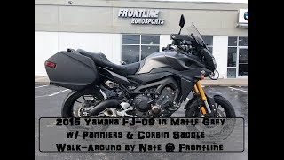 2015 Yamaha FJ-09 in Matte Grey with Panniers & Corbin Saddle Walk-Around by Nate @ Frontline