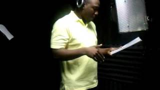 Zion the christian rapper in the studio